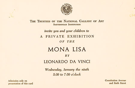 The Mona Lisa Exhibit 1963, Leonardo da Vinci