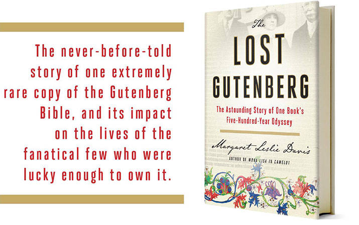 The Lost Gutenberg Book Cover - Margaret Leslie Davis