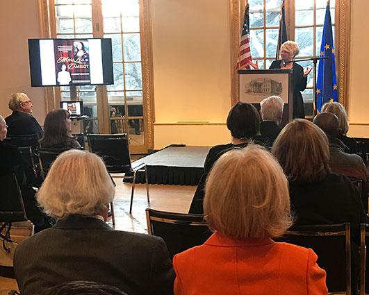 Margaret Leslie Davis at the French Embassy