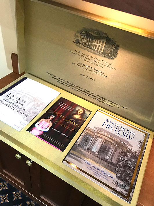 The new edition of Mona Lisa in Camelot was part of the official gift to French President Emmanuel Macron during his state visit in April, 2018