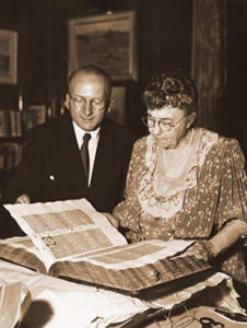 Estelle Doheny with Gutenberg Bible #45