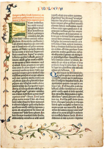 First page of Gutenberg Bible #45