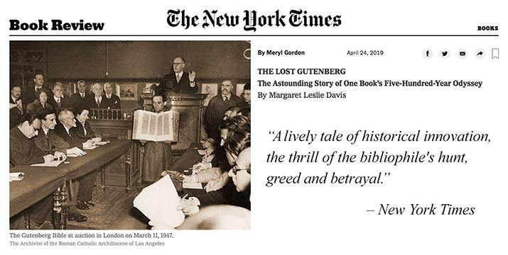 New York Times - The Lost Gutenberg Book Review