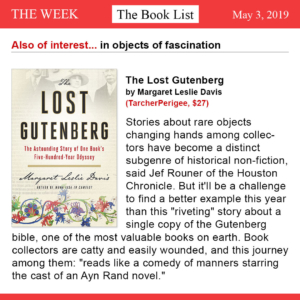 The Week - The Lost Gutenberg Book Review