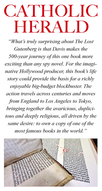 Catholic Herald, The Lost Gutenberg Book Review