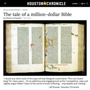Houston Chronicle book review The Lost Gutenberg