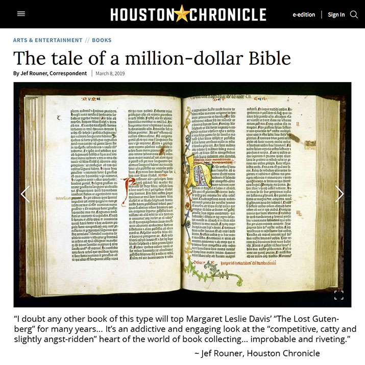 Houston Chronicle Book Review of The Lost Gutenberg