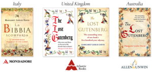 The Lost Gutenberg, International Book Covers: Italy, United Kingdom (UK) and Australia